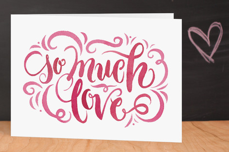 So Much Love Valentine's Day Greeting Cards