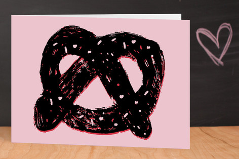 Pretzel Valentine's Day Greeting Cards