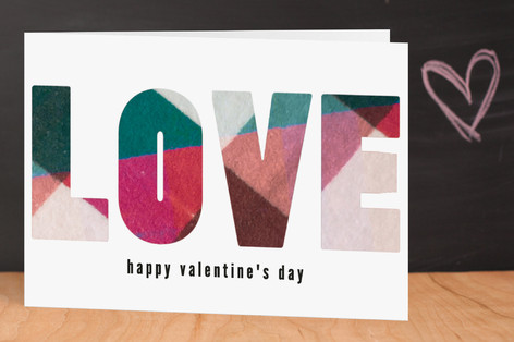 Plaid Love Valentine's Day Greeting Cards