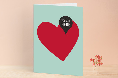 Mapped Valentine's Day Greeting Cards