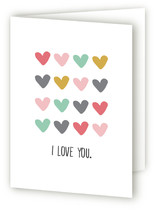 This is a white greeting card by Leah Ragain called Your love is all there is with standard printing on signature.