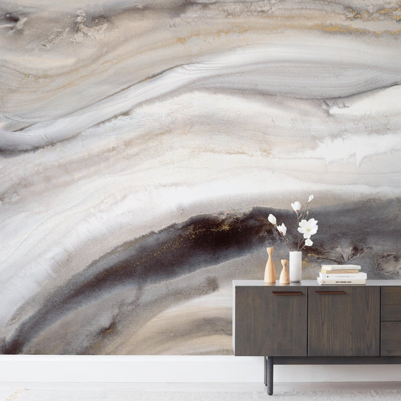 """Warm Gold I"" - Non-custom Wall Murals by Teodora Guererra in beautiful frame options and a variety of sizes."
