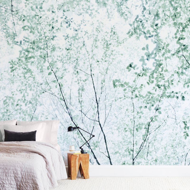 """""""Batik Forest"""" - Non-custom Wall Murals by Karen Kaul in beautiful frame options and a variety of sizes."""