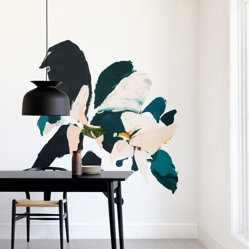 """Botanical Series #4"" - Non-custom Wall Murals by Caryn Owen in beautiful frame options and a variety of sizes."