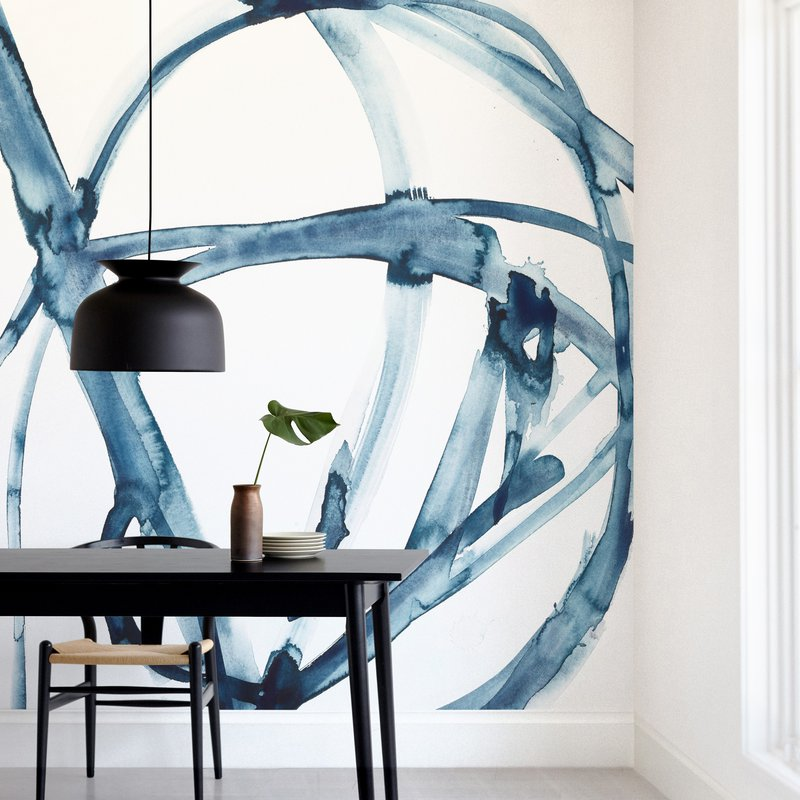 """Indigo Plant Cell"" - Non-custom Wall Murals by Mary Gaspar in beautiful frame options and a variety of sizes."