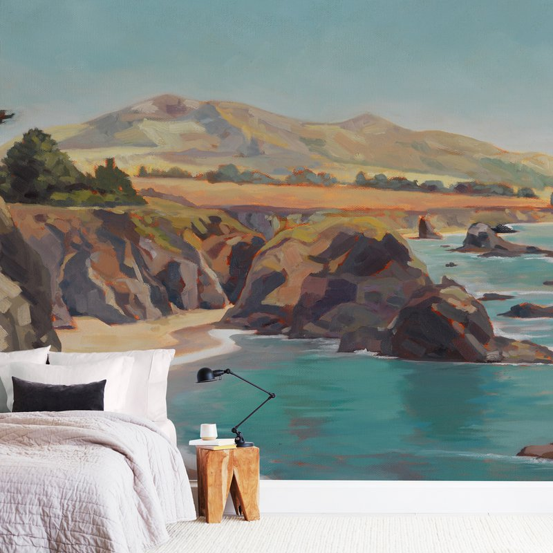 """""""The Wild Sonoma Coast"""" - Non-custom Wall Murals by Amanda Phelps in beautiful frame options and a variety of sizes."""