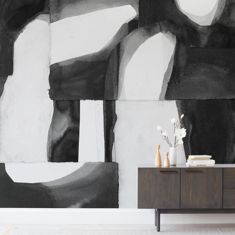 """Construct 1"" - Non-custom Wall Murals by Ashleigh Ninos in beautiful frame options and a variety of sizes."