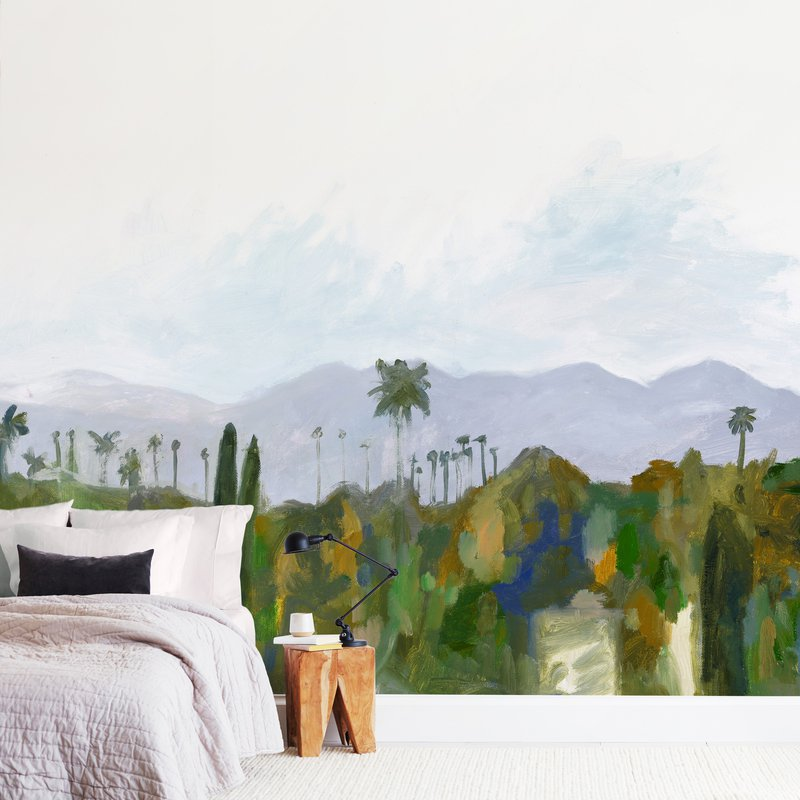"""""""Los Angeles landscape"""" - Non-custom Wall Murals by Kelly Witmer in beautiful frame options and a variety of sizes."""
