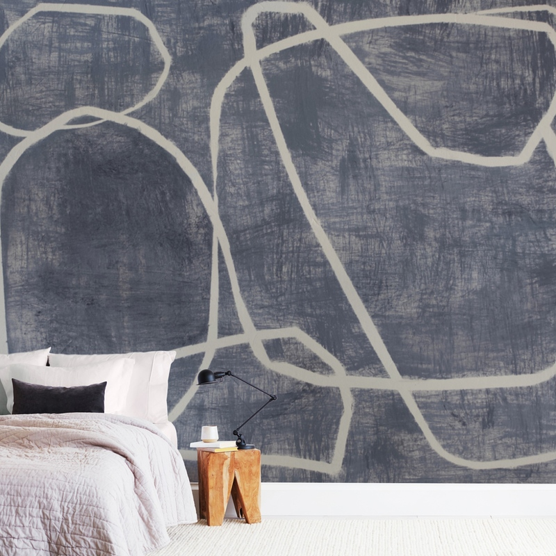 """""""Squiggles"""" - Non-custom Wall Murals by Camille Pietrow in beautiful frame options and a variety of sizes."""