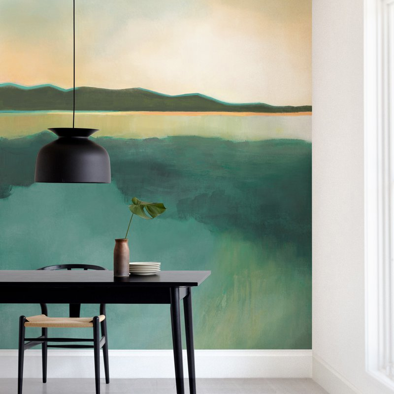 """Tranquil Harbor"" - Non-custom Wall Murals by Alison Jerry Designs in beautiful frame options and a variety of sizes."