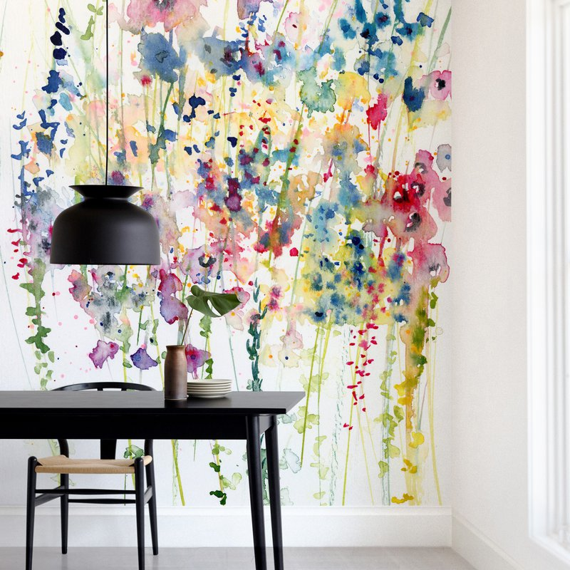 """""""Wildflowers"""" - Non-custom Wall Murals by Lindsay Megahed in beautiful frame options and a variety of sizes."""