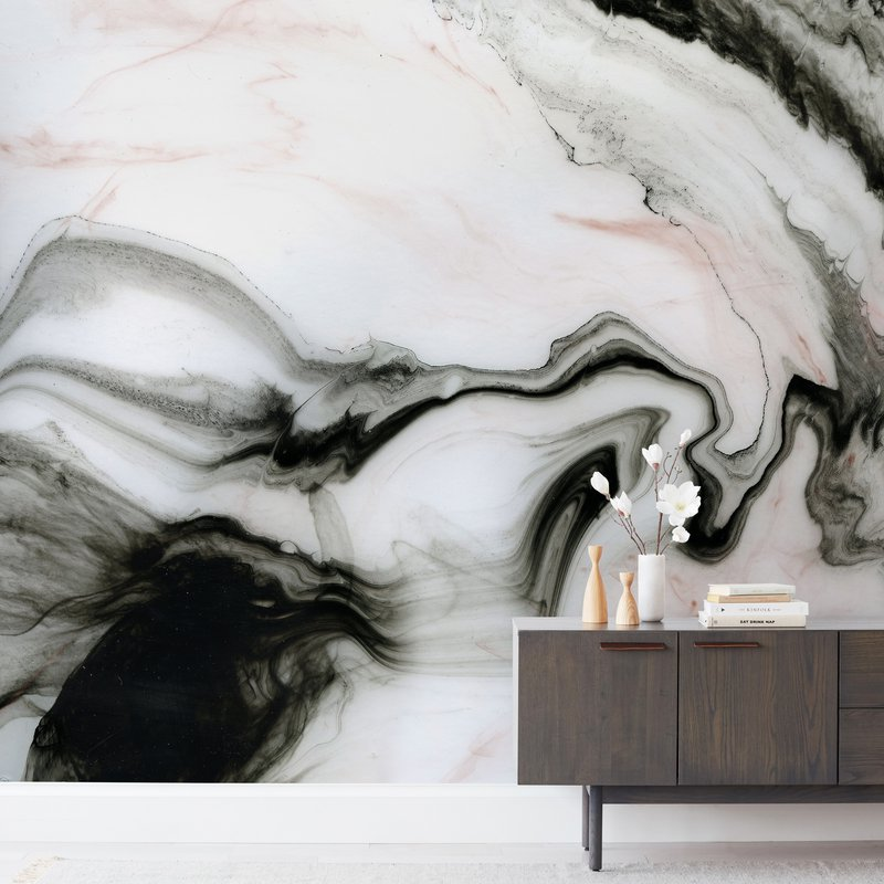 """""""Ethereal Marble"""" - Non-custom Wall Murals by Melanie Severin in beautiful frame options and a variety of sizes."""