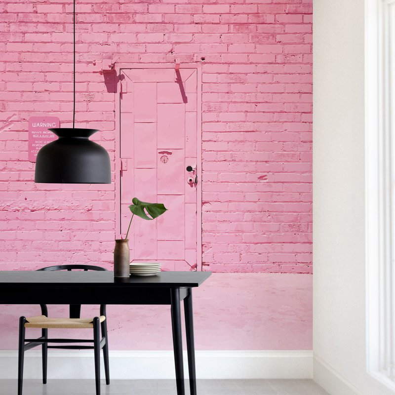 """""""The Pink Door"""" - Non-custom Wall Murals by Jenna Gibson in beautiful frame options and a variety of sizes."""