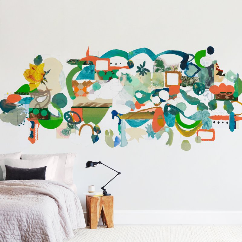 """""""Green Hills"""" - Non-custom Wall Murals by Erin McCluskey Wheeler in beautiful frame options and a variety of sizes."""