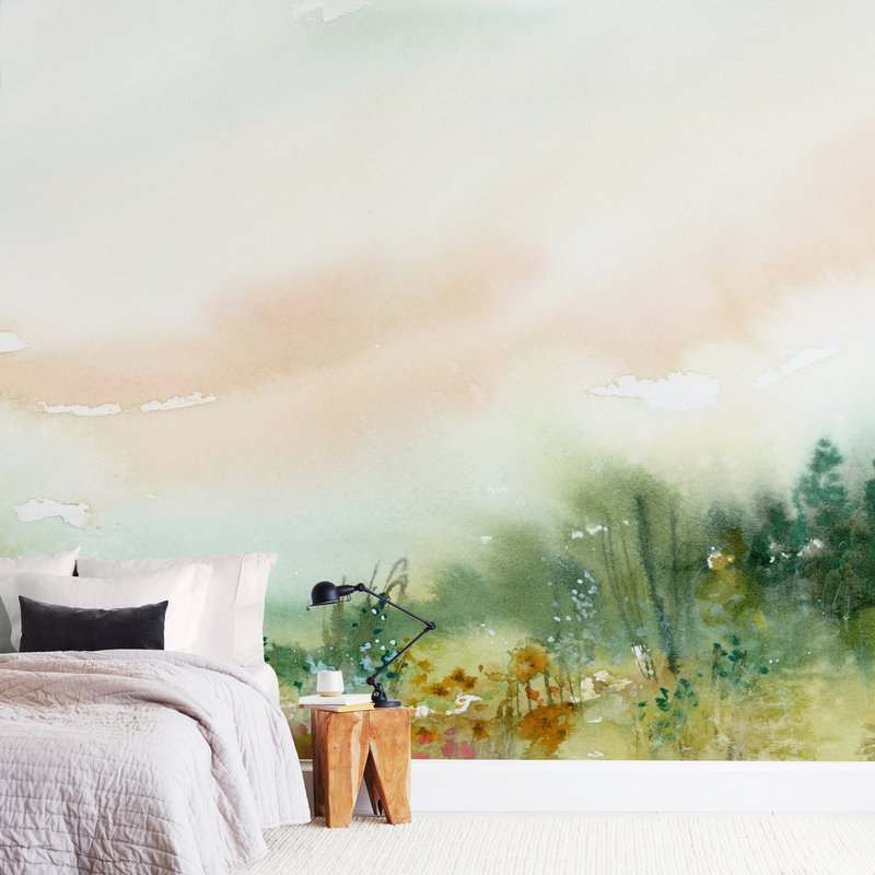 """""""MeadowLand"""" - Non-custom Wall Murals by Lindsay Megahed in beautiful frame options and a variety of sizes."""