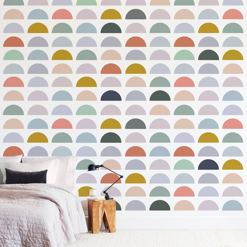 """""""Spectrum Tiles"""" - Non-custom Wall Murals by Katharine Watson in beautiful frame options and a variety of sizes."""