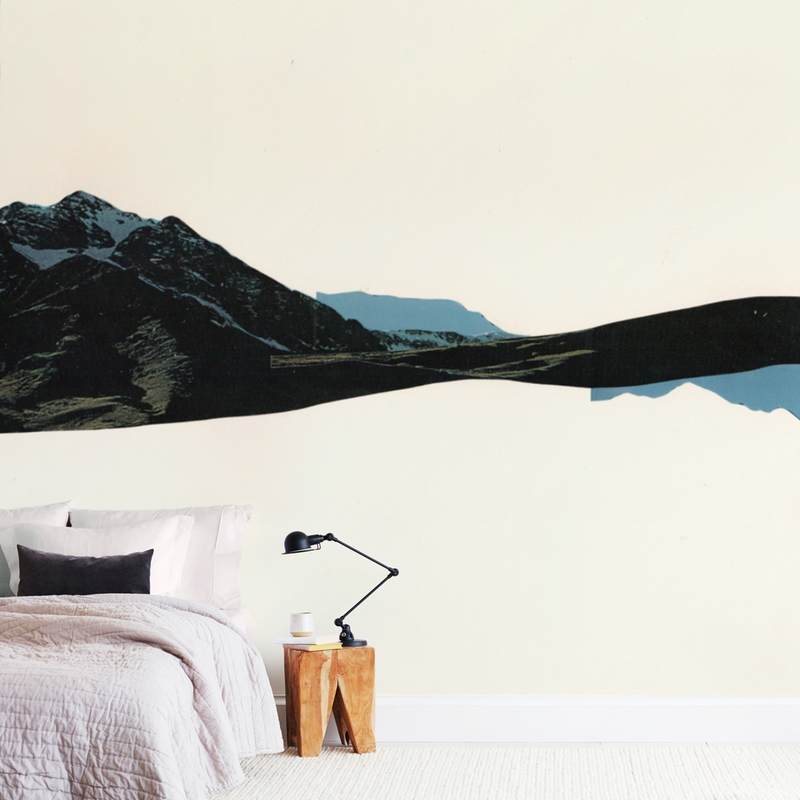 """""""Spliced Landscape 1"""" - Non-custom Wall Murals by Melinda Laszczynski in beautiful frame options and a variety of sizes."""