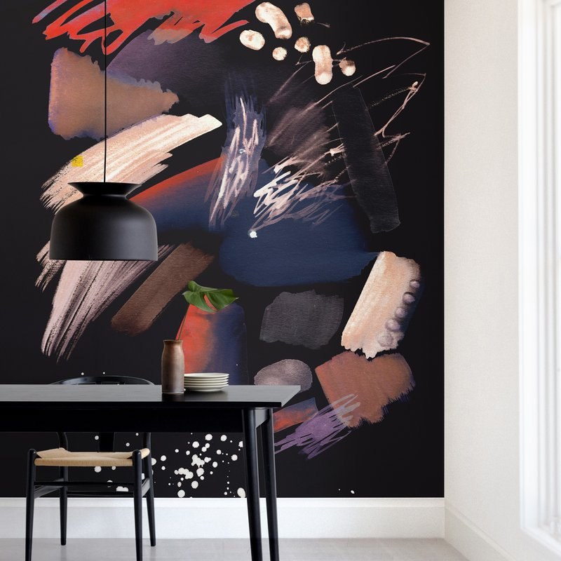 """Pastel abstract splattering"" - Non-custom Wall Murals by Oana Prints in beautiful frame options and a variety of sizes."