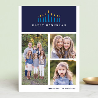 Candlelight Hanukkah Petite Cards