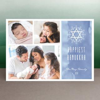 Floral David Star Hanukkah Petite Cards