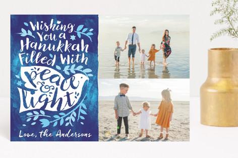 Bright Light Dove Hanukkah Petite Cards