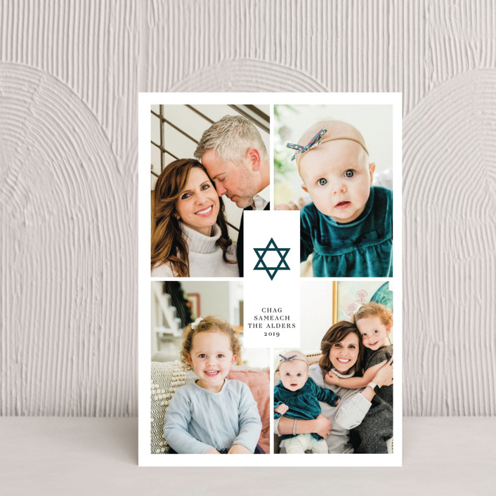 """Joyful Hanukkah"" - Hanukkah Petite Cards in Winter by Ana de Sousa."