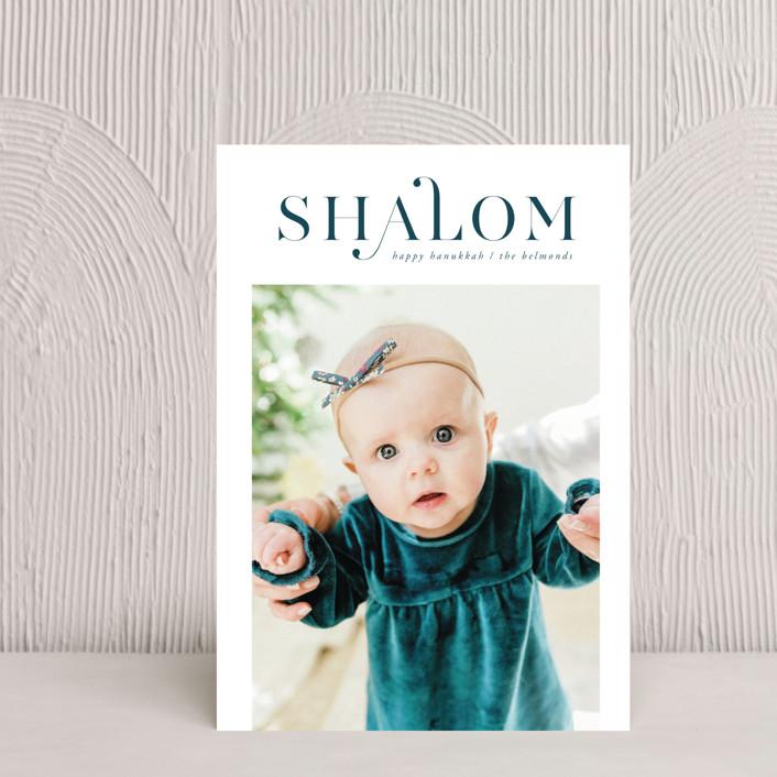 """""""Shalom Hanukkah"""" - Hanukkah Petite Cards in Snow by Ana de Sousa."""