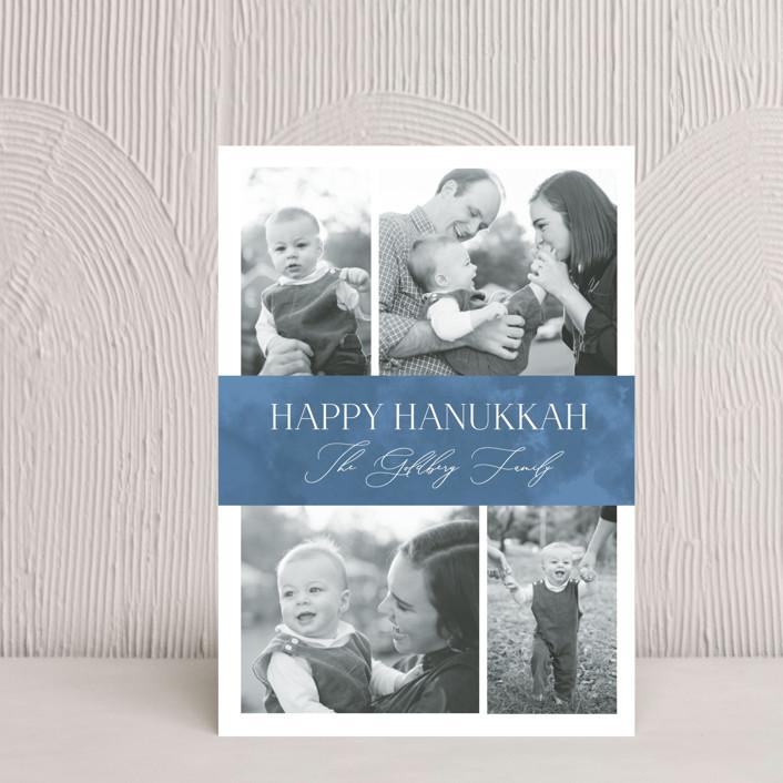 """Elegant Hanukkah"" - Hanukkah Petite Cards in Sky by Nicole Barreto."