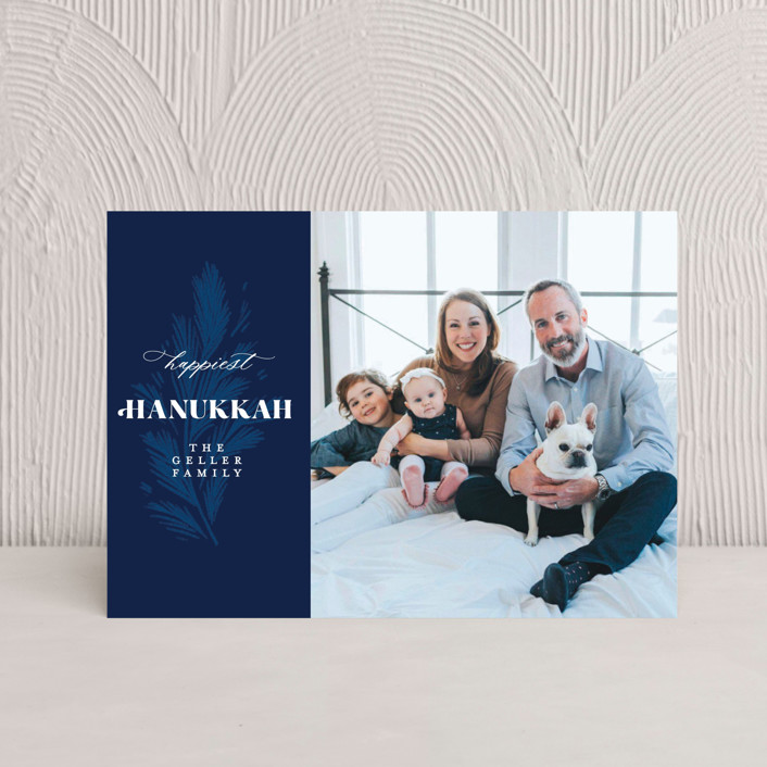 """Hanukkah Branch"" - Hanukkah Petite Cards in Navy by Paper Raven Co.."