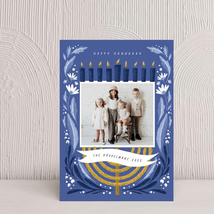 """""""Season of Miracles"""" - Hanukkah Petite Cards in Winter Sky by Grae."""