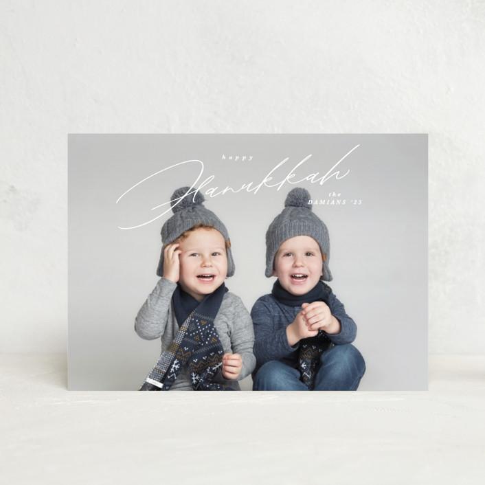 """""""Crisp"""" - Hanukkah Petite Cards in Snow by Kate Ahn."""