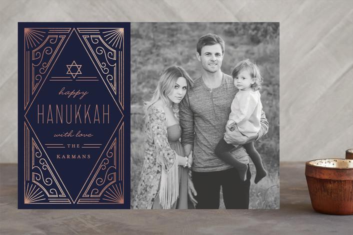"""Shine"" - Elegant Hanukkah Cards in Night by Chris Griffith."