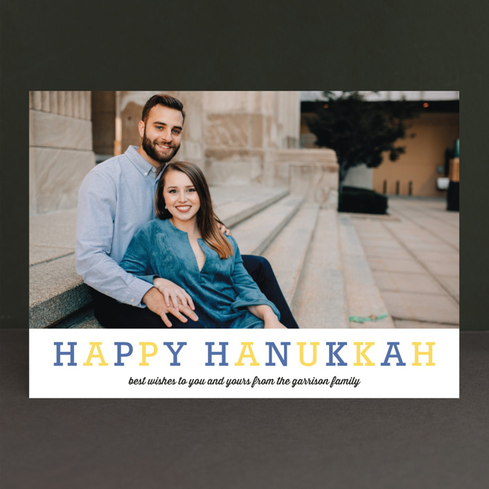 """Famille"" - Hanukkah Cards in Blueberry by Carrie ONeal."