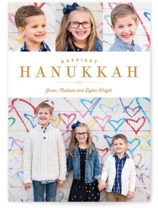 Sparkling Border Hanukkah Cards