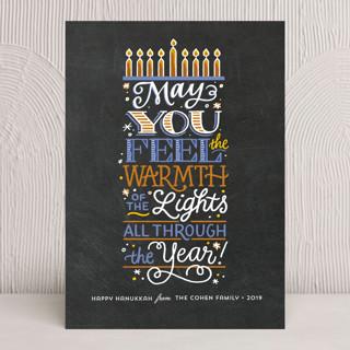 Feel the Warmth Hanukkah Cards
