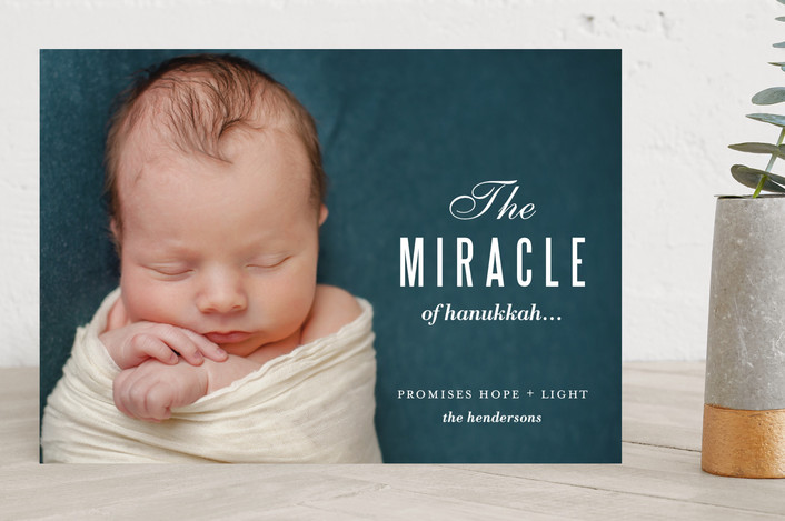"""""""Miracle and Light"""" - Classical, Full-Bleed Photo Hanukkah Cards in Morning Glow by kelli hall."""