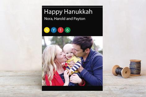 NY Transit Hanukkah Cards