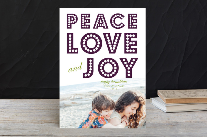 """""""float + peace"""" - Non-Traditional Colors, Modern Hanukkah Cards in Velvet by Float Paperie."""