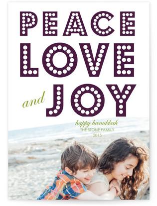 float + peace Hanukkah Cards
