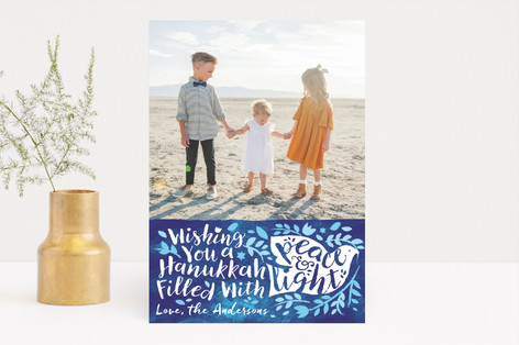 Bright Light Dove Hanukkah Cards