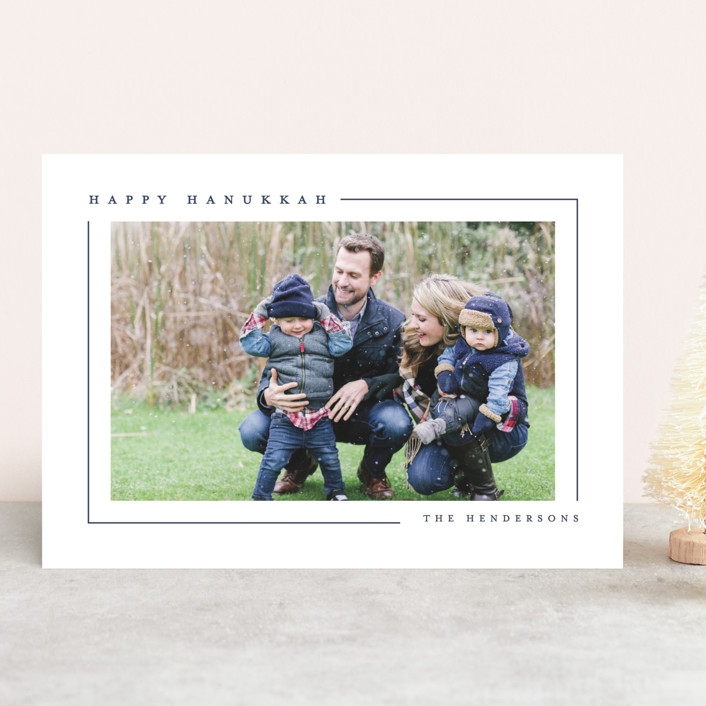 """Simply Serene"" - Hanukkah Cards in Tuxedo by Lauren Chism."