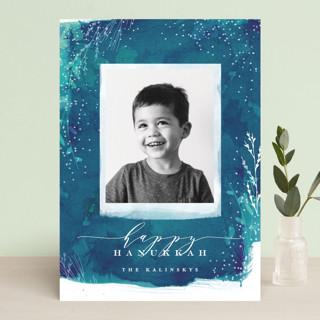 Snowprint Hanukkah Cards