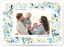 This is a blue hanukkah card by Yao Cheng Design called Watercolor Hanukkah printing on smooth signature in standard.