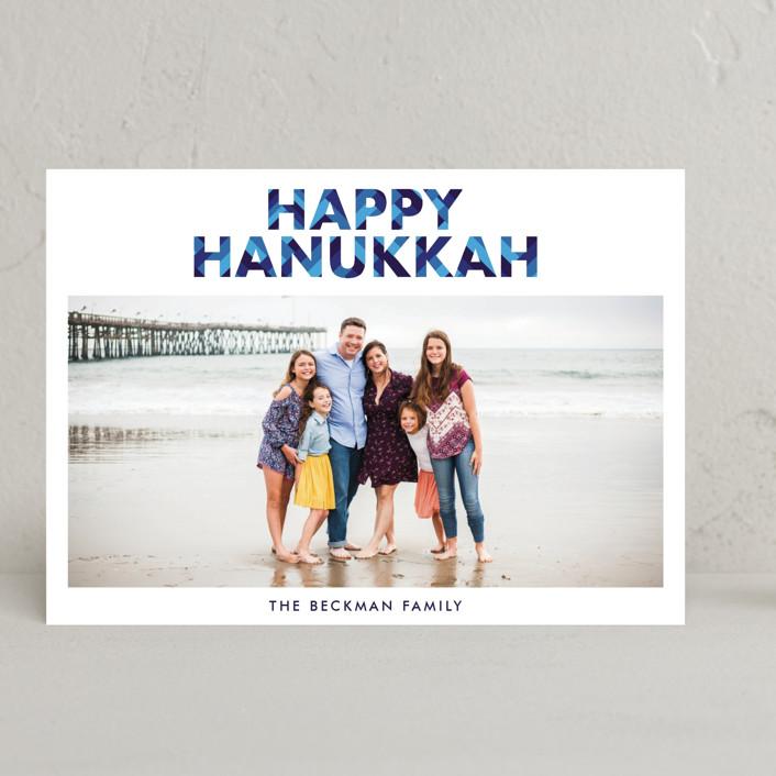 """""""Hanukkah"""" - Hanukkah Cards in Sapphire by Bekah Beckman."""