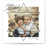 This is a blue hanukkah card by Tatiana Nogueiras called Star printing on smooth signature in standard.