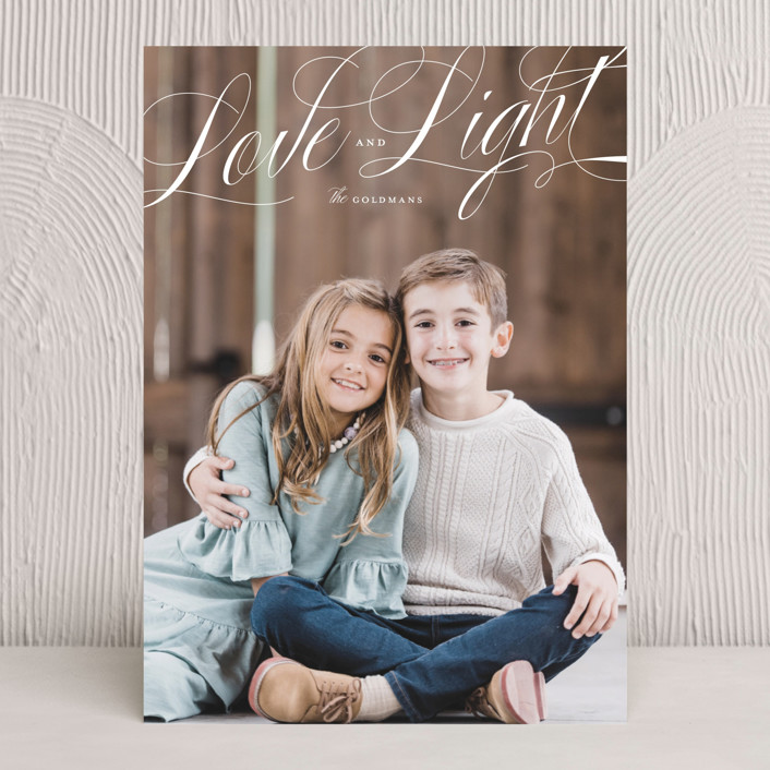 """""""Love and Light"""" - Hanukkah Cards in Snow by Ink and Letter."""