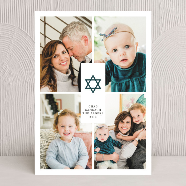 """Joyful Hanukkah"" - Hanukkah Cards in Winter by Ana de Sousa."