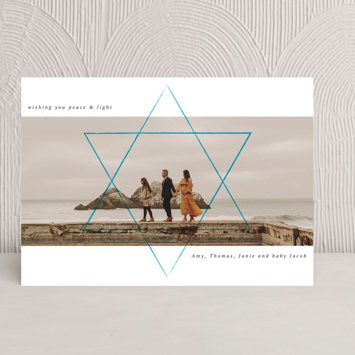"""Shine the way"" - Modern Hanukkah Cards in Sky by Kann Orasie."