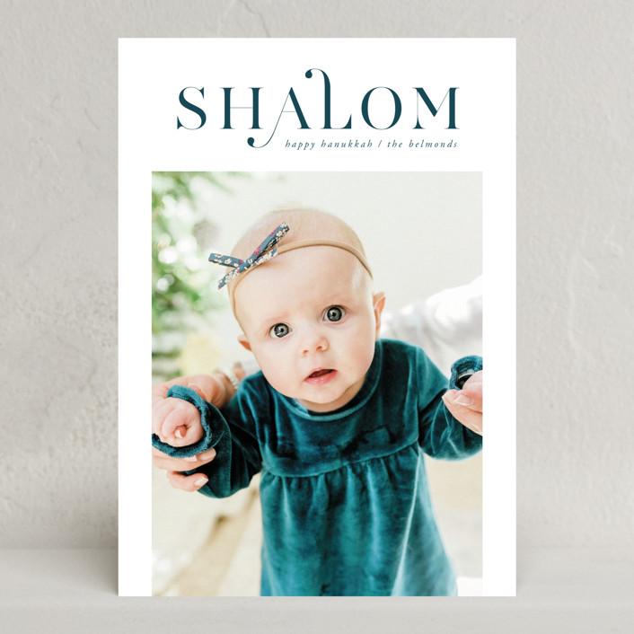 """""""Shalom Hanukkah"""" - Hanukkah Cards in Snow by Ana de Sousa."""