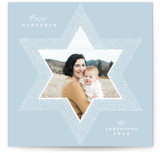 This is a blue hanukkah card by Yuliya Evseeva called Good day printing on smooth signature in standard.